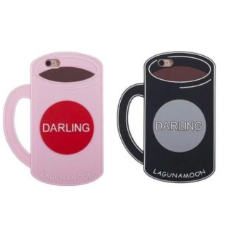 Coque IPhone 5C Mug En TPU rose et noir