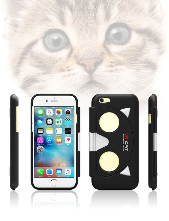 Coque iPhone 6 et 6s réalité virtuelle VR Cat