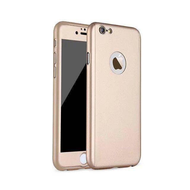 Coque intégrale iPhone 6 plus et 6s plus + film en verre trempé