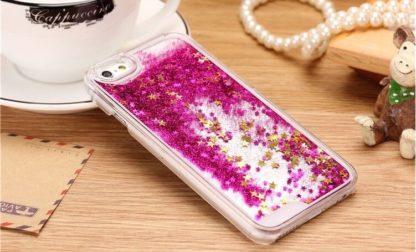Coque paillettes liquide et strass IPhone 7