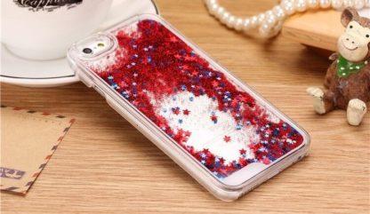 Coque paillettes liquide et strass IPhone 5 et 5s