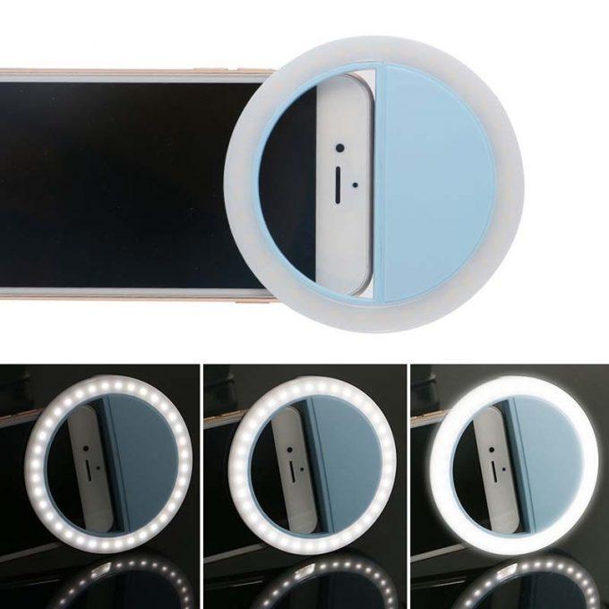 Anneau de lumière Selfie Ring Flash RK-14 (iOS et Android)