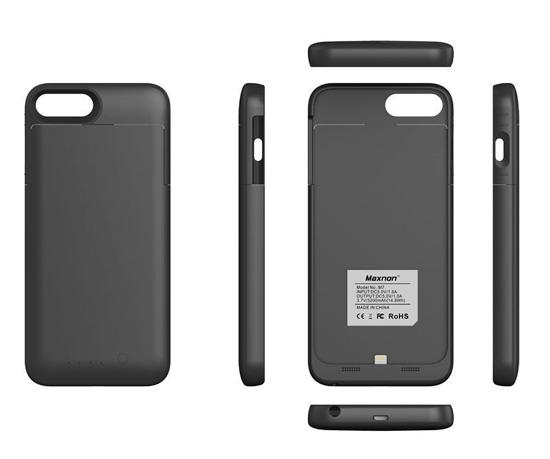 p 1 7 3 5 1735 Coque rechargeable IPhone 66s MFI noir