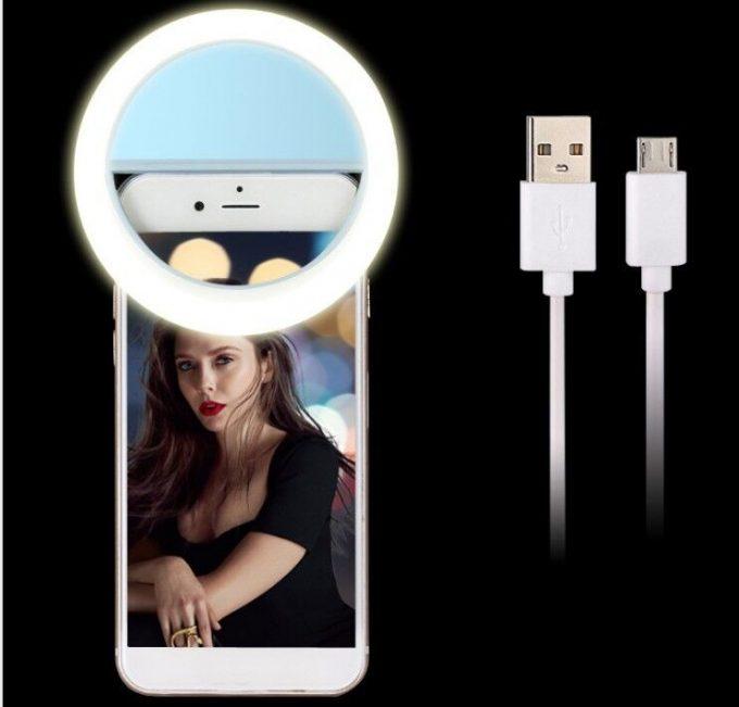 Anneau de lumière Selfie Ring Flash RK-12 (iOS et Android)
