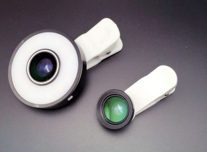 Anneau de lumière Selfie LED Flash Mx-601 (iOS et Android)