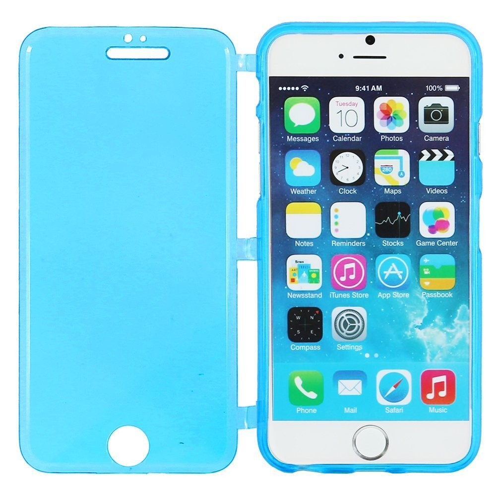 100% quality factory outlet how to buy Coque Silicone Gel Iphone 6 plus / 6s plus TPU Portefeuille Livre