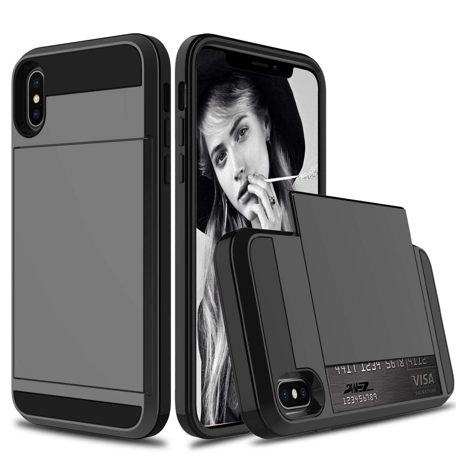 iphone xr coque porte carte