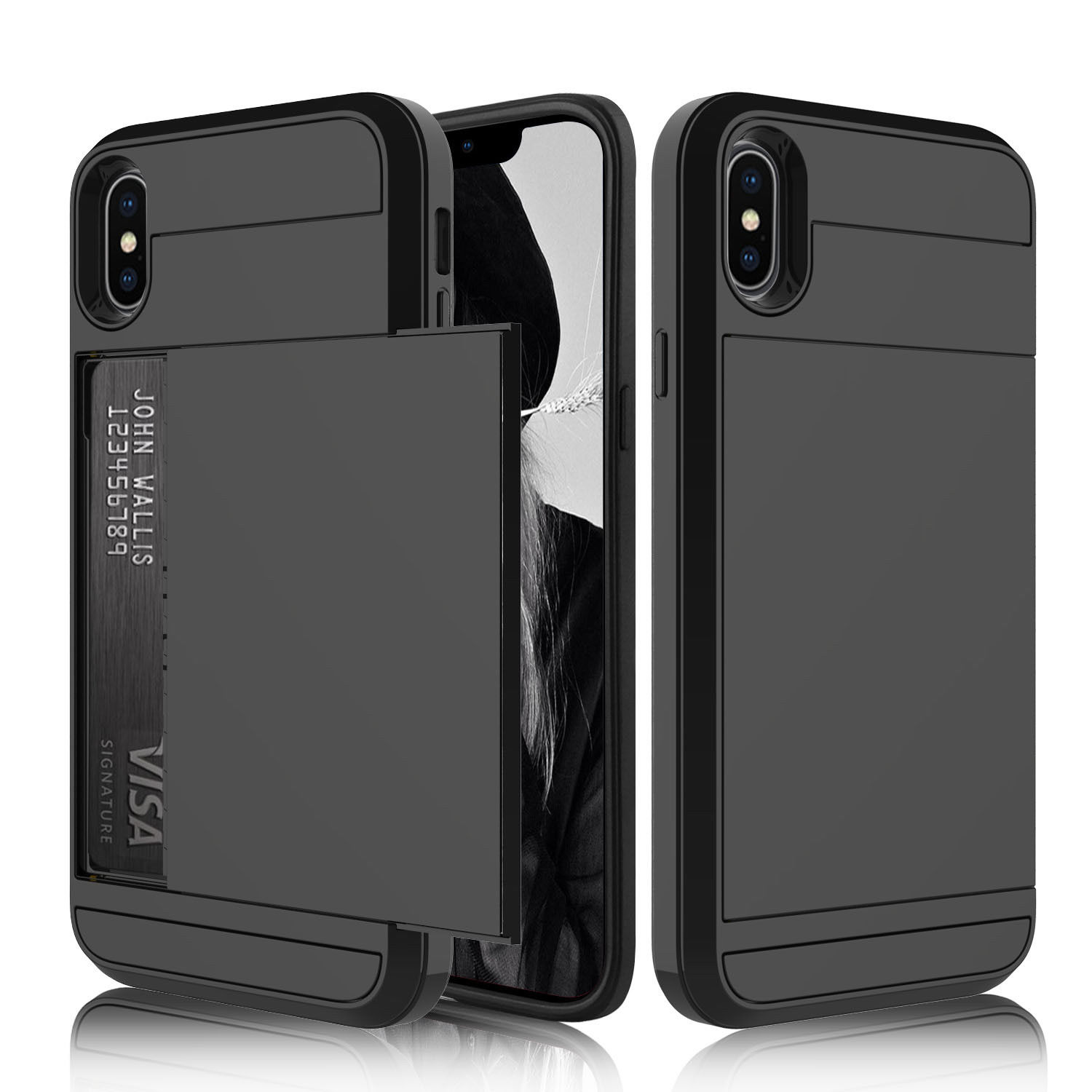 coque iphone 8 plus compartiment cb