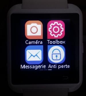 Ecran de la montre u8 bluettoth