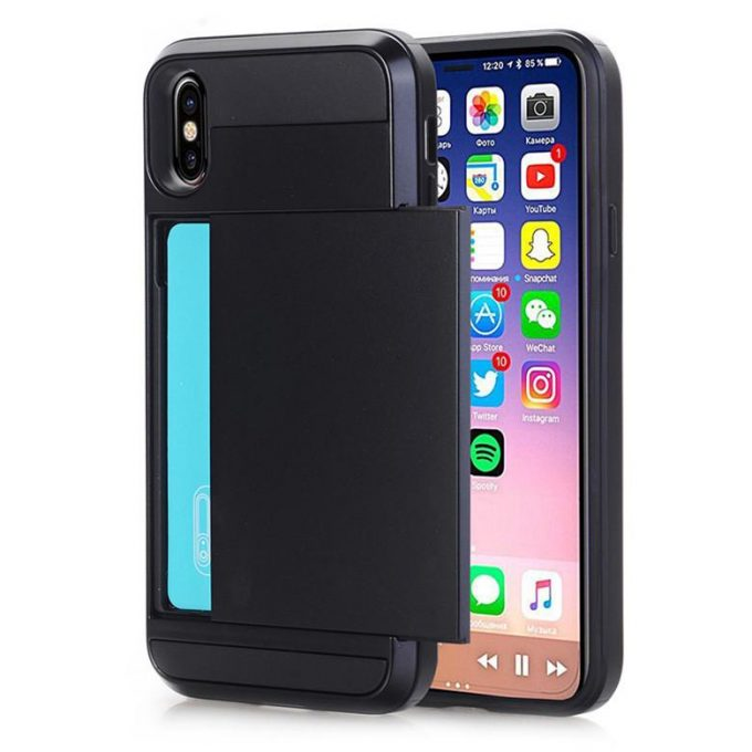Coque iPhone Xr porte carte Damda Slide