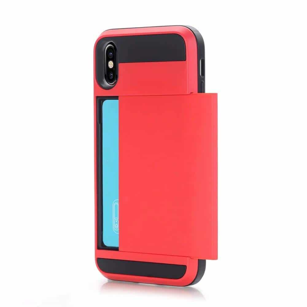 coque iphone xr porte carte sans contact
